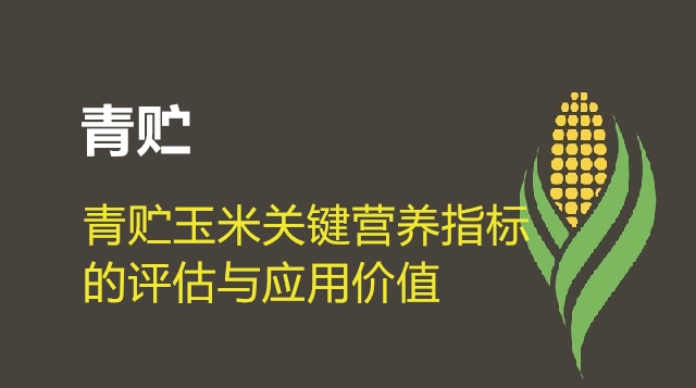 第06节 青贮玉米关键营养指标的评估与应用价值-仇学军